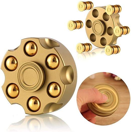 KTops Fidget Spinning Revolver Spinner Yema del Dedo Gyro Juguete ...