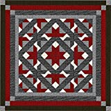 Easy Quilt Kit Path to the Stars!! Red, Black, Gray/King/Expedited Shipping