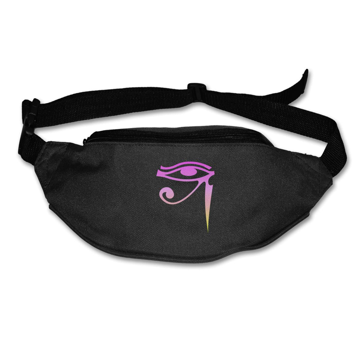 Egyptian The Eye Of Ra Pink Sport Waist Pack Fanny Pack Adjustable For Run