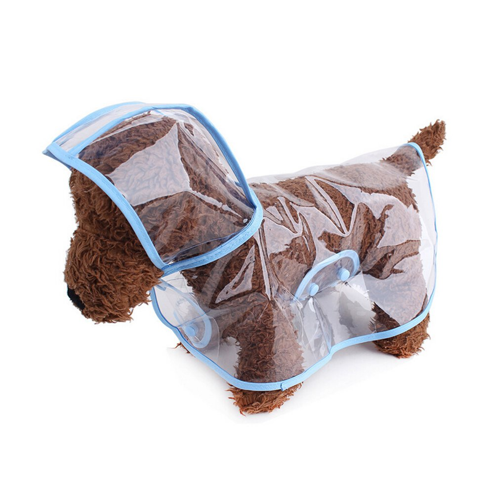 Animal Raincoat Dog Rain Coats Waterproof Puppy Raincoats for Small Dogs Cats Size M Blue