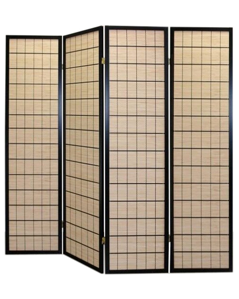 CHOKO ROOM DIVIDER SCREEN - NATURE - 4 PANEL DOUBLE SIDED FOLDABLE PRIVACY SCREEN - THESE ARE HIGH QUALITY DRESSING SCREENS / PARTITIONS FROM ROOM DIVIDERS UK