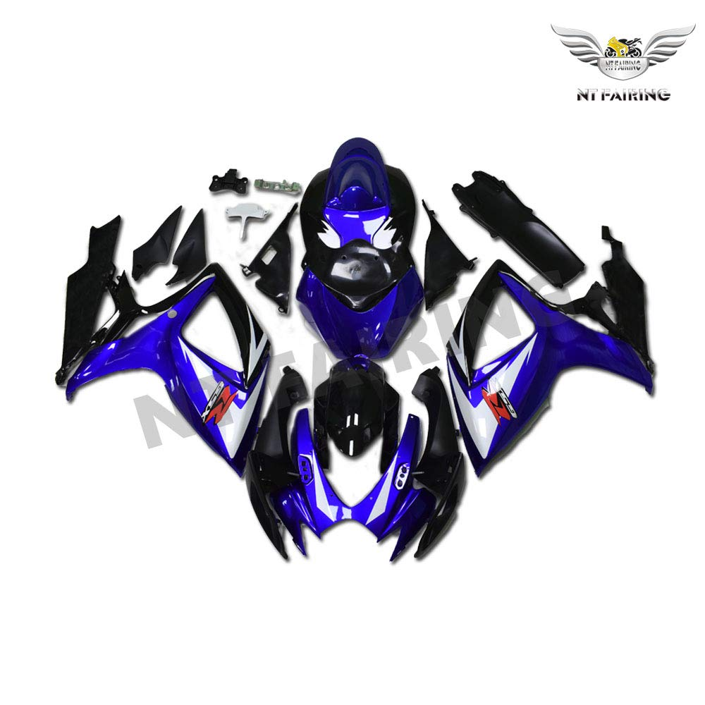 NT FAIRING Grey Injection Mold Fairing kits Fit for Suzuki 2006 2007 GSXR 600 750 K6 GSX-R600 Aftermarket Painted ABS Plastic Motorcycle Bodywork