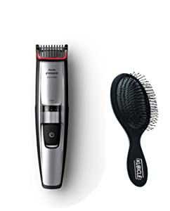 Philips Norelco All-in-One Cordless Wet/Dry Multigroom Turbo-Powered Beard Mustache & Head Trimmer Grooming Kit with Kubicle Hair Brush Bundle