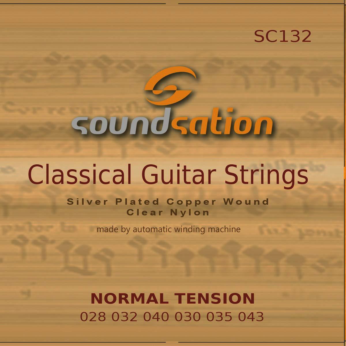 Cuerdas para guitarra cl/ásica espa/ñola SOUNDSATION SC132 tensi/ón normal