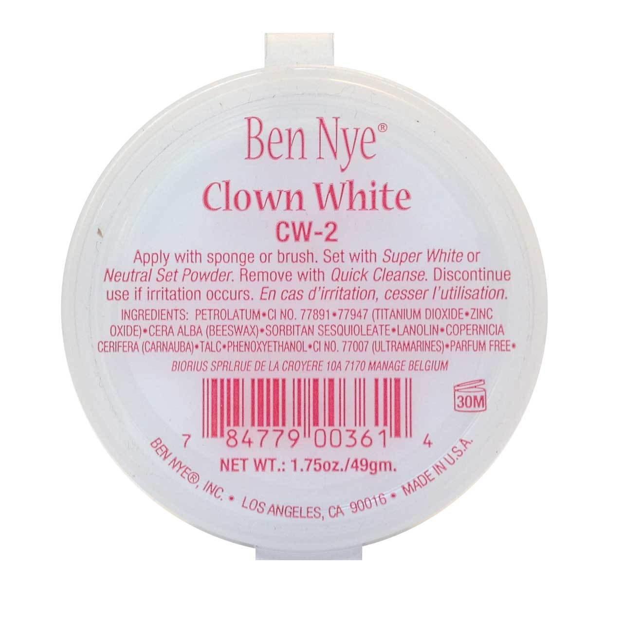 Clown White Makeup, 1.75oz./49gm.