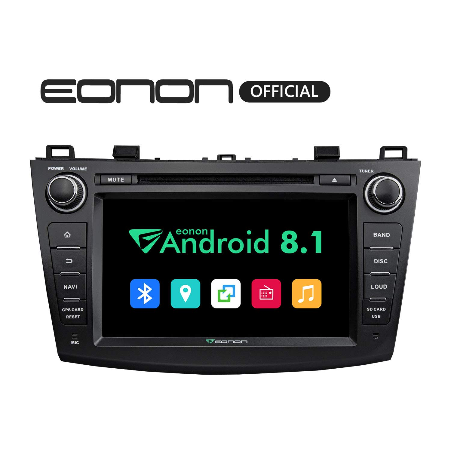 Eonon Double Din Android Auto Car Stereo, Android 8 1 Car Radio 2GB RAM  +16GB ROM Quad-Core 8 Inch in Dash Touch Screen Radio Audio Applicable to