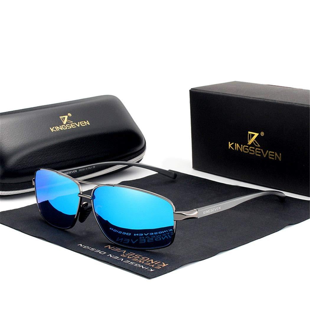 Vintage Retro Men Polarized Sunglasses Square Classic Men Shades Sun glasses Blue