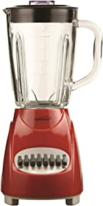 Brentwood JB-920R Blender with Glass Jar, 12-Speed + Pulse, Red