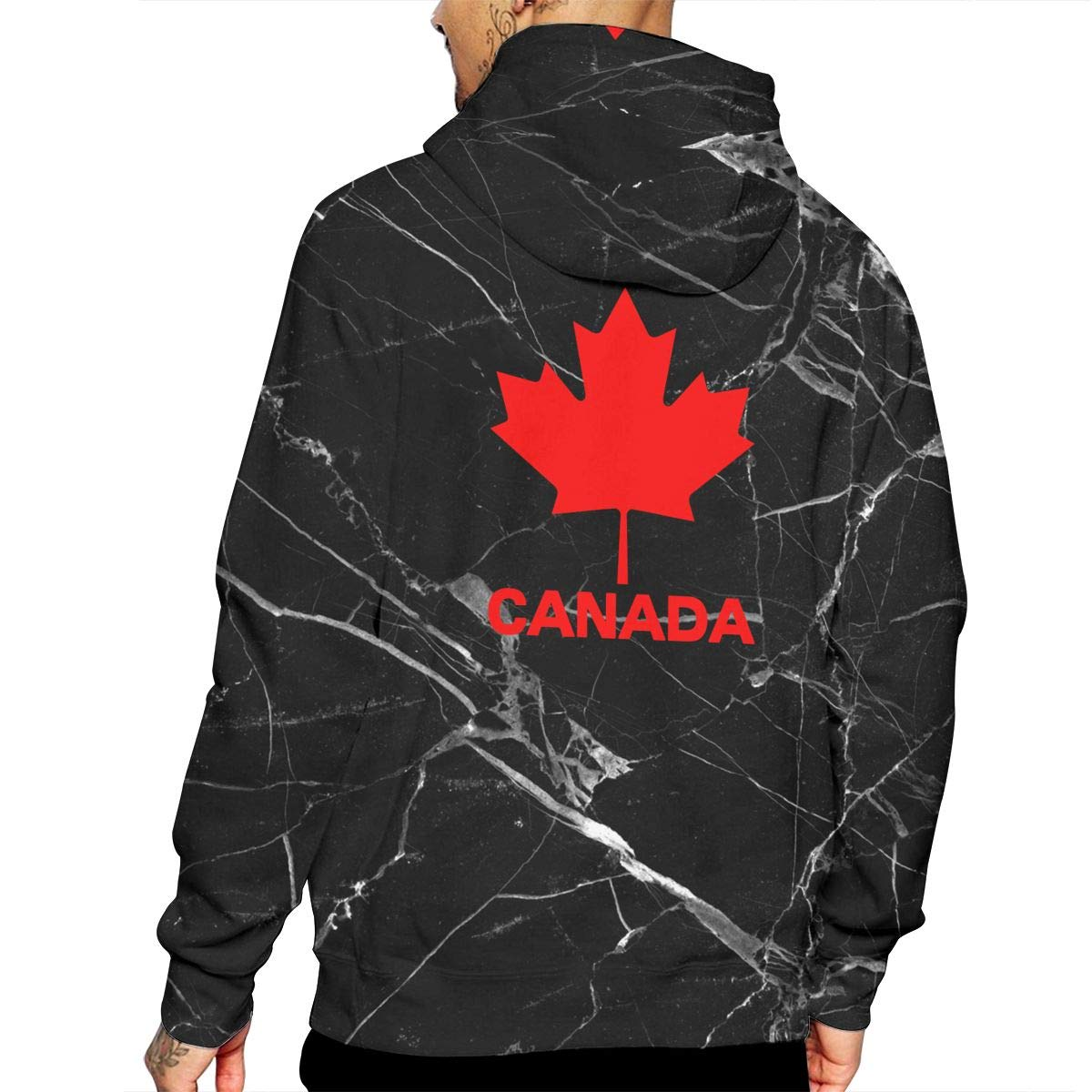 Athletic 100/% Cotton Outwear with Pocket for Men Ou50IL@WY Men Canadian Flag Canada Maple Leaf Hooded Fleece