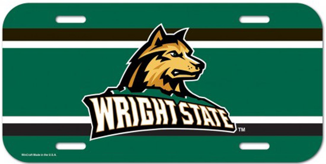 WinCraft Wright State University Raiders License Plate Frame and License Plate Gift Set