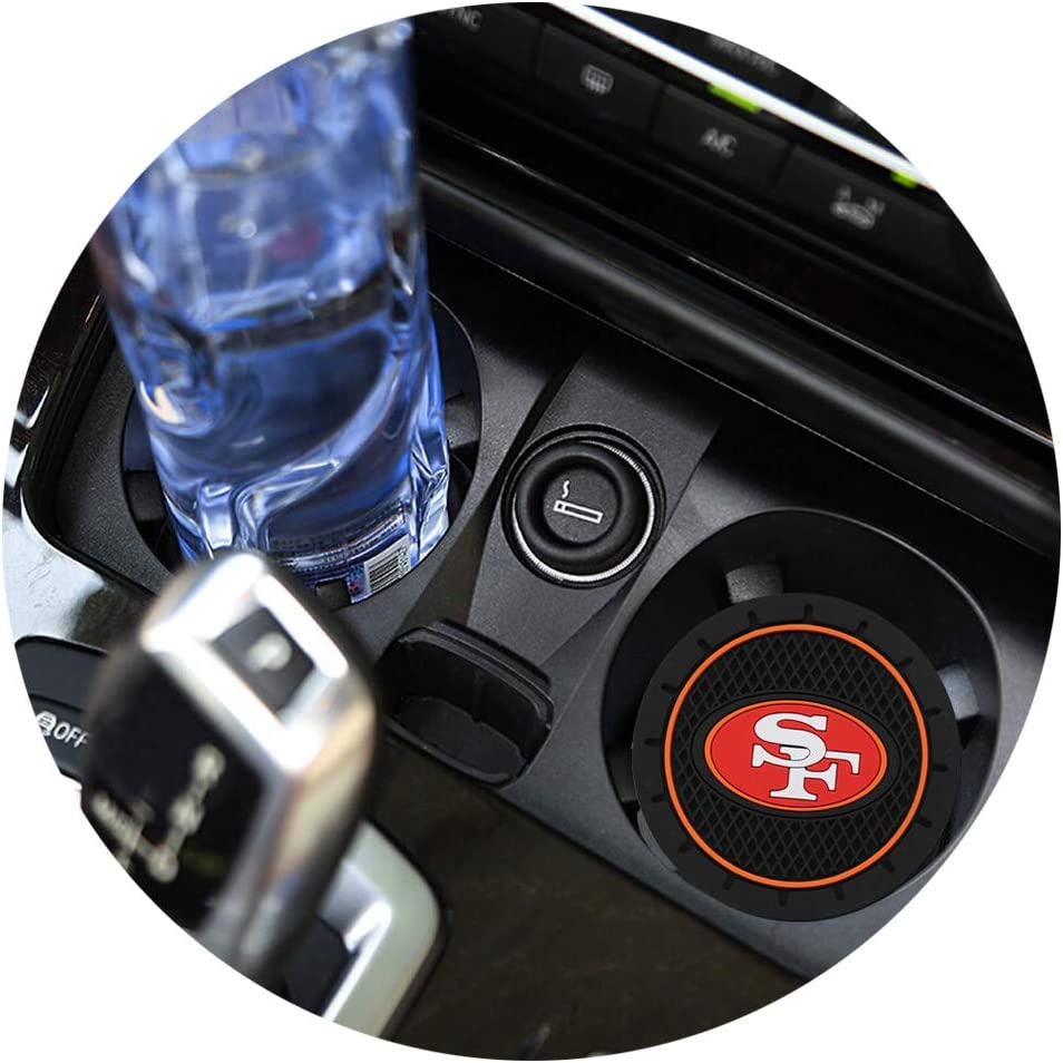 Fast /& Furious 2PCS Car Cup Holder Coaster for Kansas City Chiefs for KC 2.8 Inch Car Interior Accessories Durable Non Slip Silicone Logo Cup Mat for All Vehicles