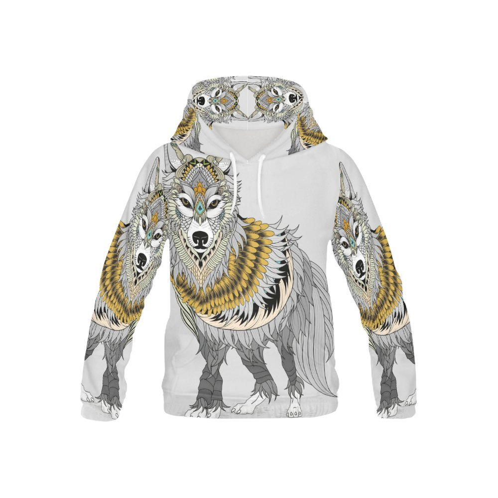 Native American Indian Art Print Kid's 3D Printed Pullover Hooded Sweatshirt