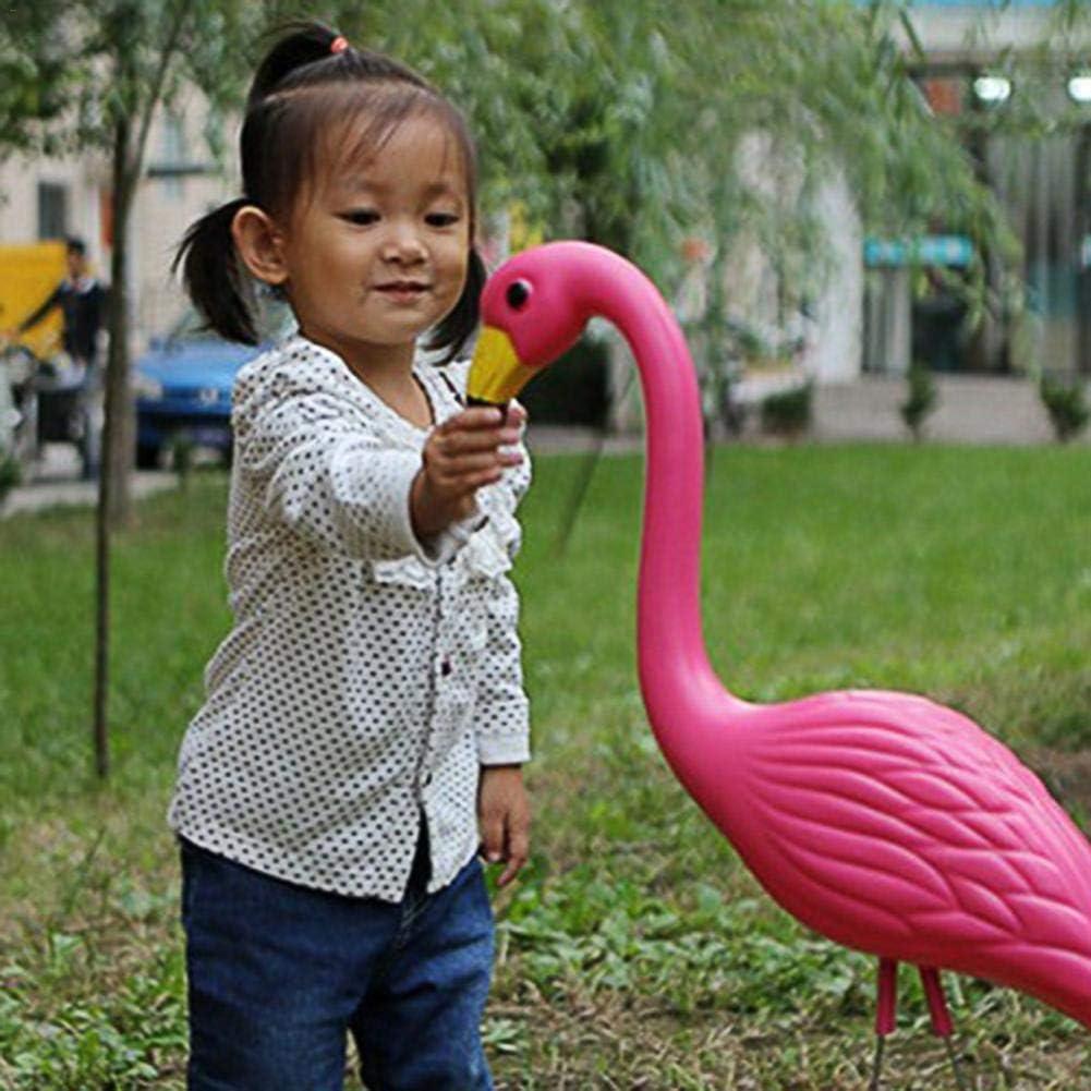 2Pcs Garden Plastic Flamingo Ornaments Bird Decorative Figurines Animal Model Toys Lawn Pond Bird Figurine Party Decoration,Pink