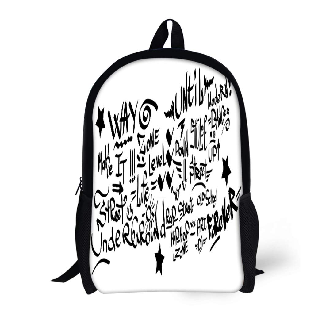 Amazon com | Pinbeam Backpack Travel Daypack Grafitti Many