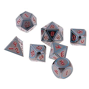 B Blesiya 7 Pedazos Dados Polihédricos Juegos de Cartas de Mesa ...