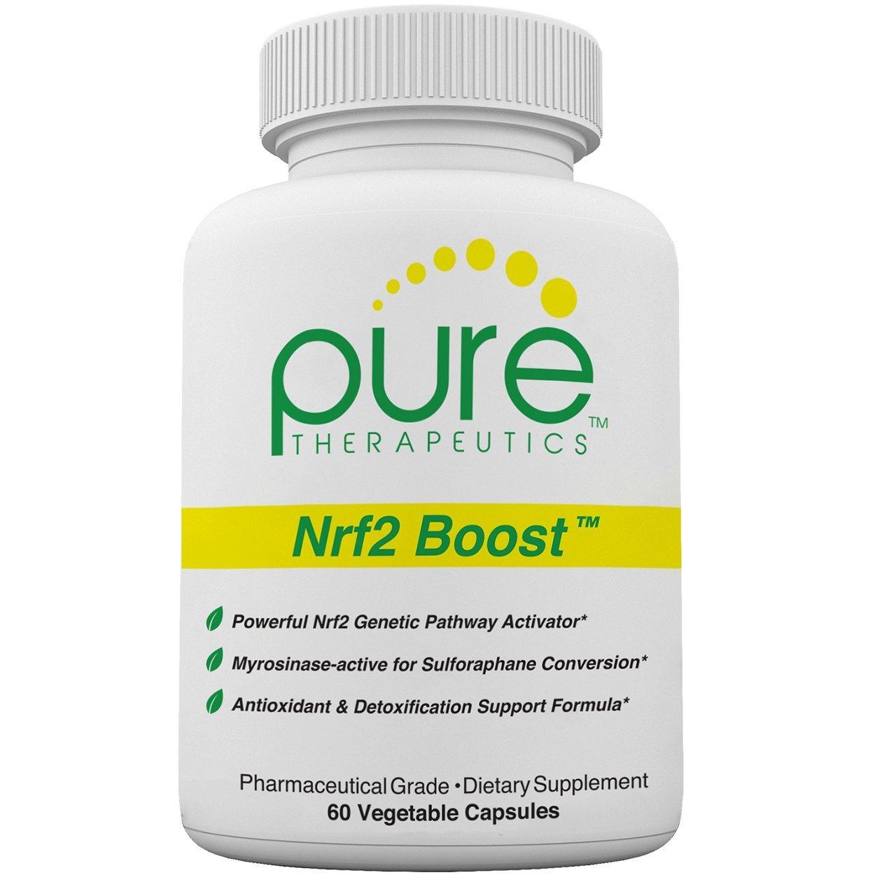 Nrf2 Boost - 60 Veggie Capsules   Oxidative Stress Formula   NRF-2 Activator with Sulforaphane   Contains: truebroc, Curcumin, Green Tea (EGCG), trans-Pterostilbene (pTeroPure), Myrosinase & BioPerine