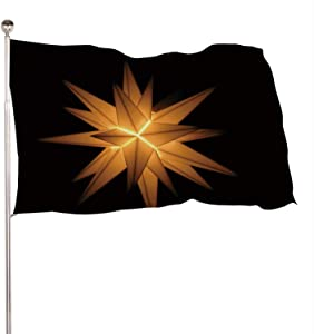 C COABALLA Christmas Decoration Moravian Stars Christmas,Banner Flags with Grommets for Decor Christmas Decoration 4x6 Ft