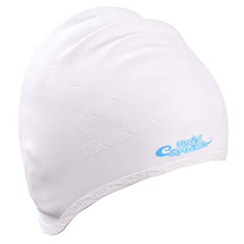 6183db69e74 Swim Cap for Long Hair, HeySplash Waterproof Silicone Swimming Cap for Women,  Men,