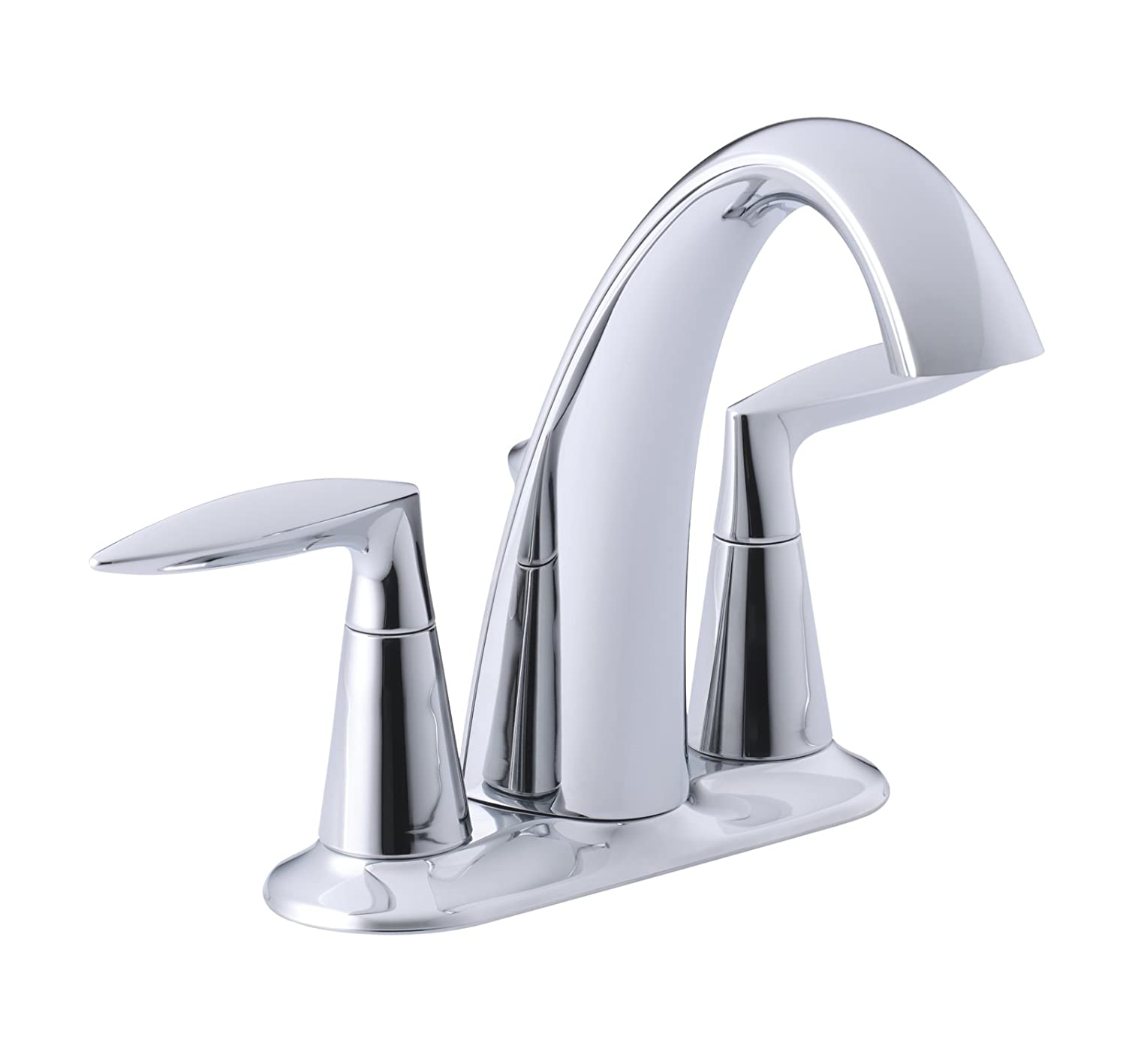 KOHLER K 45100 4 CP Alteo Centerset Lavatory Faucet, Polished Chrome    Touch On Bathroom Sink Faucets   Amazon.com