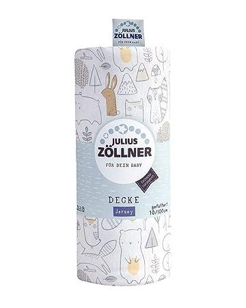 Julius Zöllner Jersey Kuscheldecke Schmusedecke Decke 70x70 cm Crazy Animals