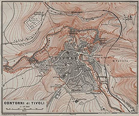 Amazoncom TIVOLI environs Contorni di Tivoli Italy mappa