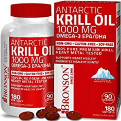 Bronson Antarctic Krill Oil 1000 mg with...