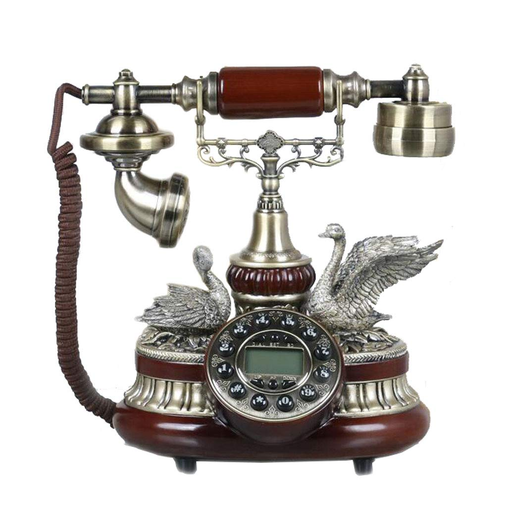 LCM Animal Shape Decoration Retro Phone Brown Resin Metal Button Dial Garden Fashion Creative Seat European Home Office by LCM