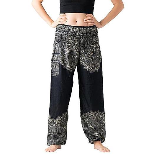 895cb97c41 Boho Harem Pants for Men Women Bohemian Summer Loose High Waisted Yoga Pant  with Pockets (
