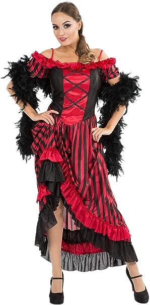 ORION COSTUMES Disfraz Cabaret de Bailarina de Can Can de Taberna ...