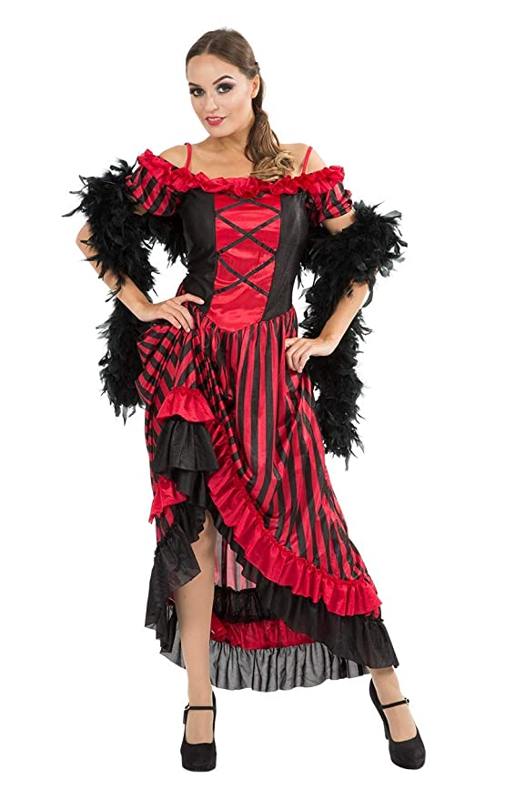 Saloon Girl Costume | Victorian Burlesque Dresses & History Orion Costumes Womens Can Burlesque Show Moulin Rouge Saloon Fancy Dress Costume $61.43 AT vintagedancer.com
