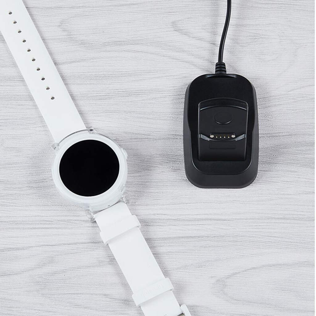 Huangou ❤ Charging Dock for Ticwatch E/S SmartWatch ❤ Smart Watch Charging Dock Charger Compatible for Ticwatch S/E Accessories (Free, Black) by Huangou (Image #5)