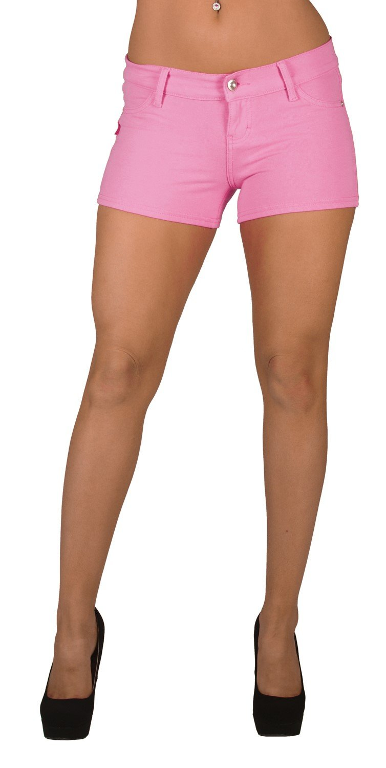 Basic Booty Shorts Premium Stretch French Terry Moleton With a gentle butt lifting stitching in Pink Size M