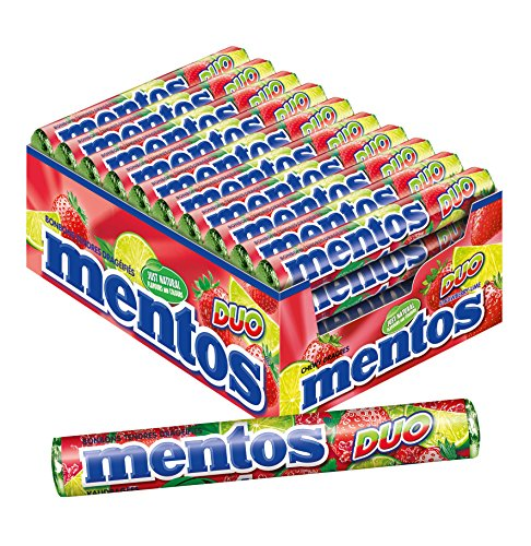 Mentos Strawberry and Lime Duo - Pack of 40 Rolls