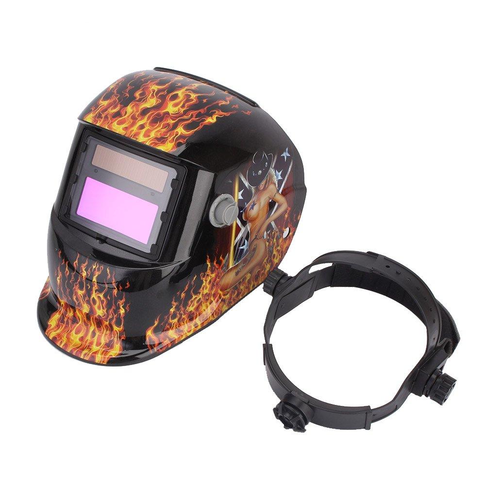 Máscara del Casco de Soldadura de Oscurecimiento Automático Solar Máquina Soldadora MIG/ARC/TIG: Amazon.es: Industria, empresas y ciencia