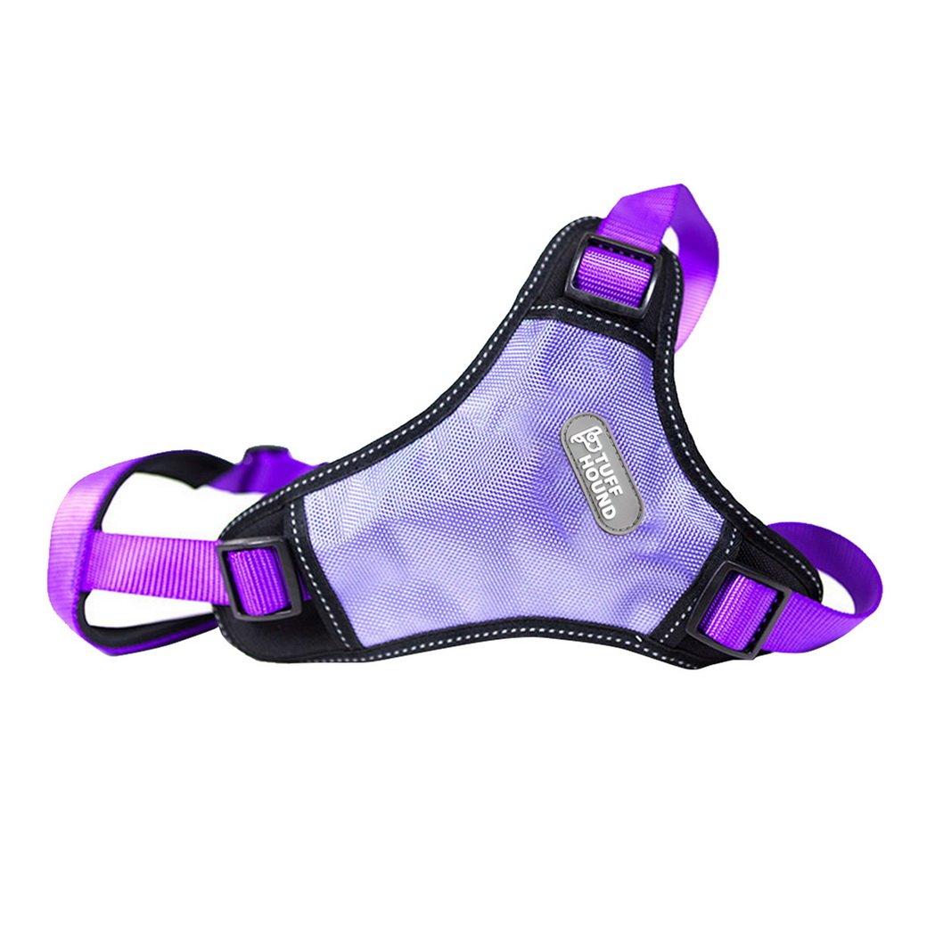 Purple L Purple L Premewish No Pull Dog Safety Vest Harness Adjustable Front Range Dog Harness for Outdoor Walking Training(Purple,L)