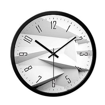 Relojes de pared hogar Elegante Sala Reloj de Arte de precisión Creativo Minimalista Dormitorio Reloj de Cuarzo silencioso: Amazon.es: Hogar