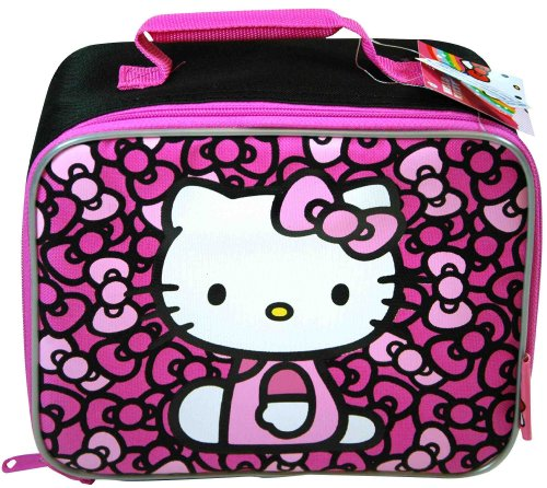Black and Pink Hello Kitty Lunch Bolso - Hello Kitty Lunchbox