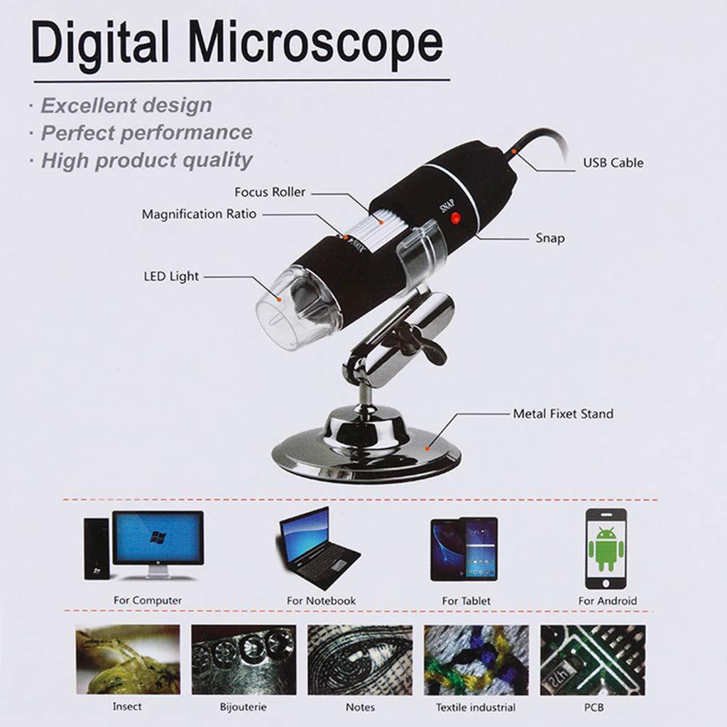 500x 8 LED USB Digital-Mikroskop Vergr/ö/ßerung Kamera mit Stativ f/ür Computer