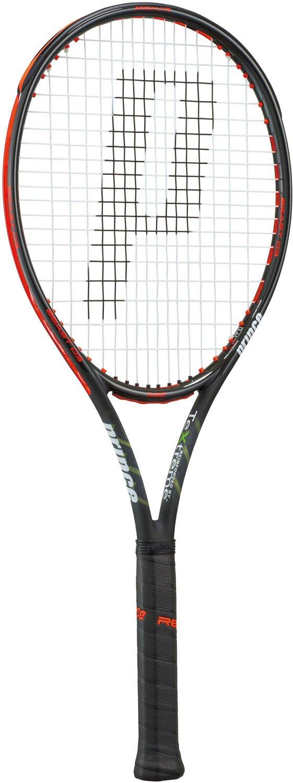 Prince(プリンス) 硬式テニス ラケット ビースト オースリー 100 (フレームのみ) 300g ブラック×ビーストレッド 7TJ064 グリップサイズ2  B0752G47G4
