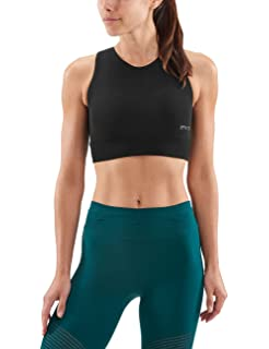 aab961b1c6 Skins Women s DNAmic Compression Vest Crop Top Sports Bra  Amazon.co ...