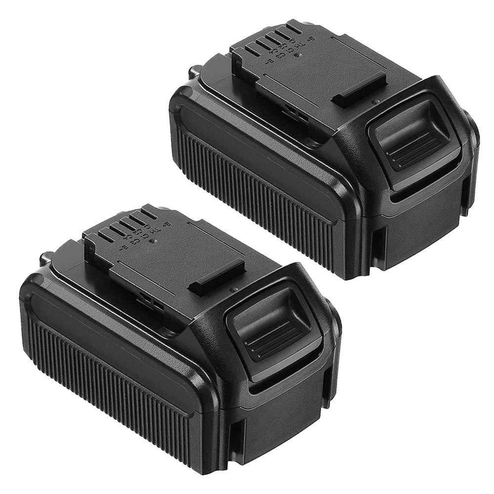 2 Pack 20 Volt 6.0Ah Replacement for Dewalt 20V Battery XRP Max Lithium DCB207 DCB206 DCB205 DCB204 DCB203 DCB201 DCB200 DCB180 Cordless Power Tools