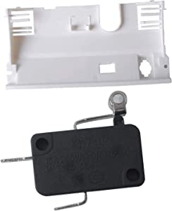 Podoy 2162361 Refrigerator Dispenser Micro Switch with WP2180226 Bracket Compatible with Whirlpool,Kenmore, Roper Replace for 1119206, 445177, AH324439, EA324439