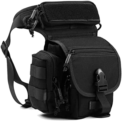 Military Tactical Drop Leg Bag Tool Fanny Thigh Pack Leg Rig Utility Pouch Pack
