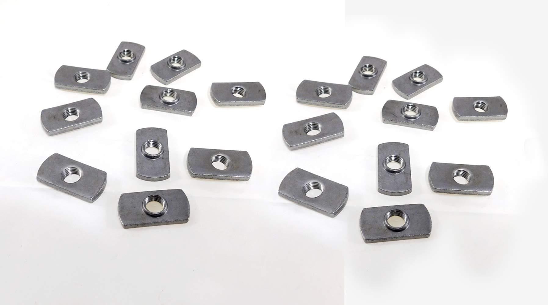 20 Pack 7/16-20 Spot Weld Nuts - Double Tab - ND 3924 by Buckeye Fastener
