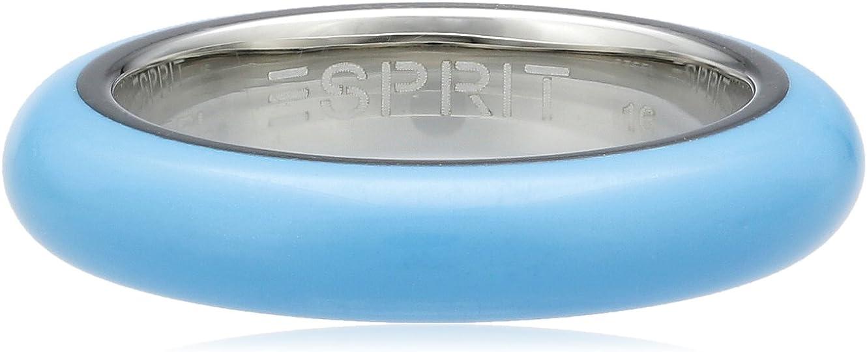 Esprit Marin 68 - Anillo de acero inoxidable rodiado para mujer, color azul