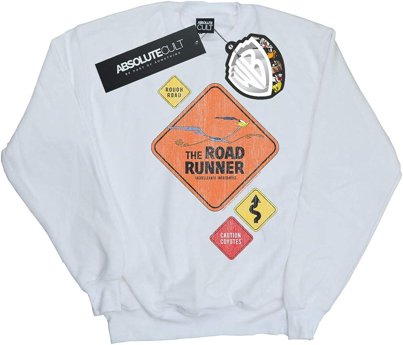 Absolute Cult Looney Tunes Girls Road Runner Road Sign Sweatshirt