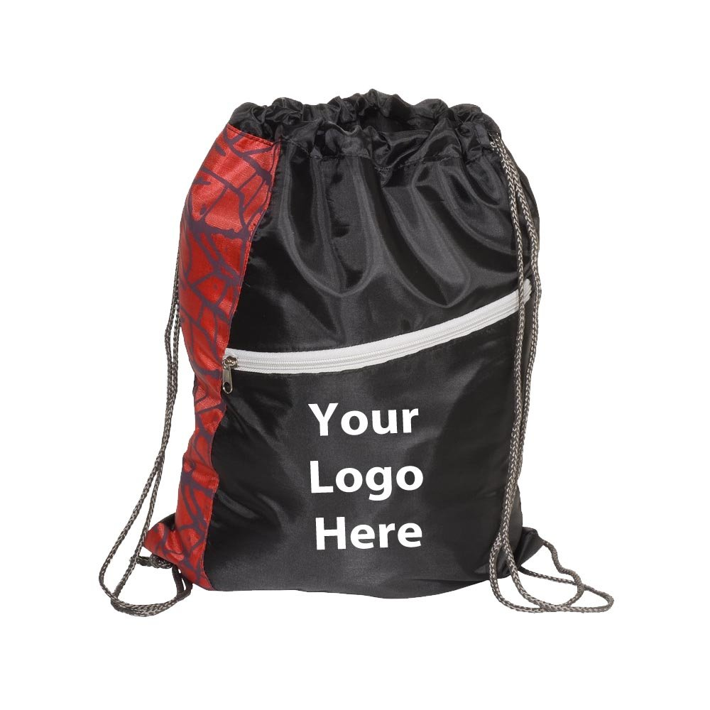 Designer String A Sling Backpack - 50 Quantity - $4.19 Each - PROMOTIONAL PRODUCT / BULK / Branded with YOUR LOGO / CUSTOMIZED by Sunrise Identity