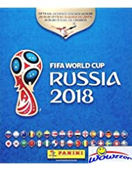 2018 Panini FIFA World Cup Russia Stickers HUGE 80 Page Collectors Album with TEN(10) Bonus Stickers! Great Collectible to Hold all your NEW 2018 FIFA World Cup Russia Soccer Stickers! WOWZZER!