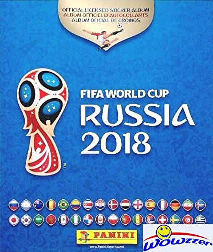 2018 Panini FIFA World Cup Russia Stickers HUGE 80 Page Collectors Album with TEN(10) Bonus Stickers! Great Collectible to Hold all your NEW 2018 FIFA World Cup Russia Soccer Stickers! WOWZZER! from Wowzzer