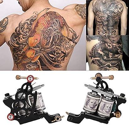 Máquina de Tatuaje Profesional Kit de Tatuaje Shader Hierro 10 ...